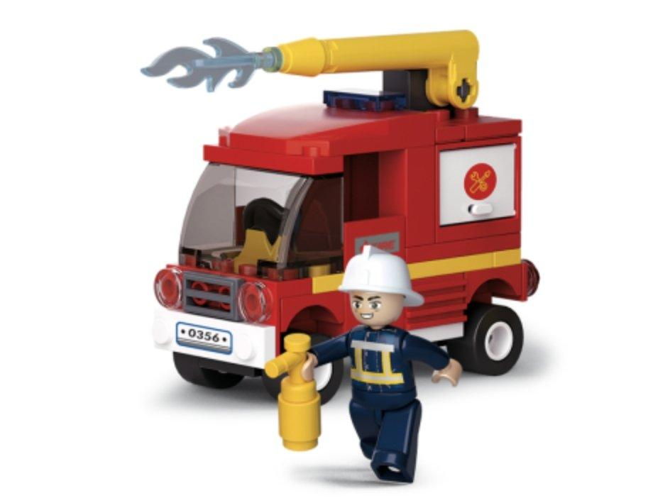Small Water Tender - Fire Alarm Sluban Bricks