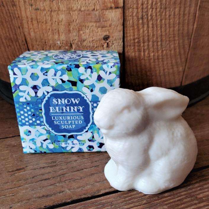 Luxurious Sculpted Bunny Soap Snow Bunny