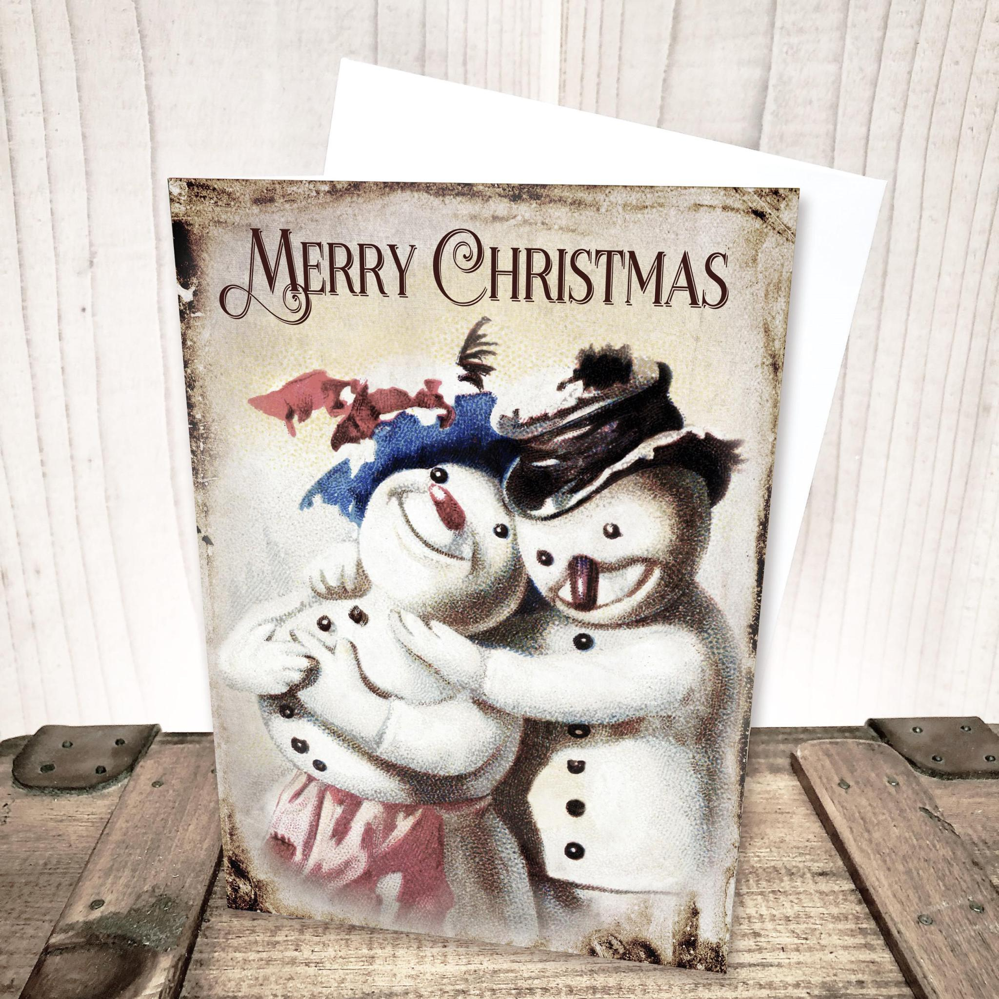 Snowman Merry Christmas Card by Yesterday's Best