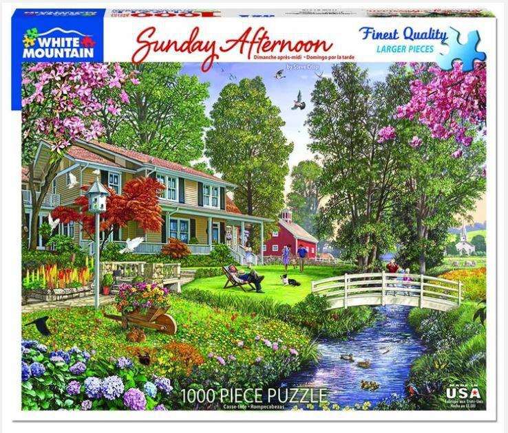 Sunday Afternoon 1000 Piece Jigsaw Puzzle by White Mountain Puzzle