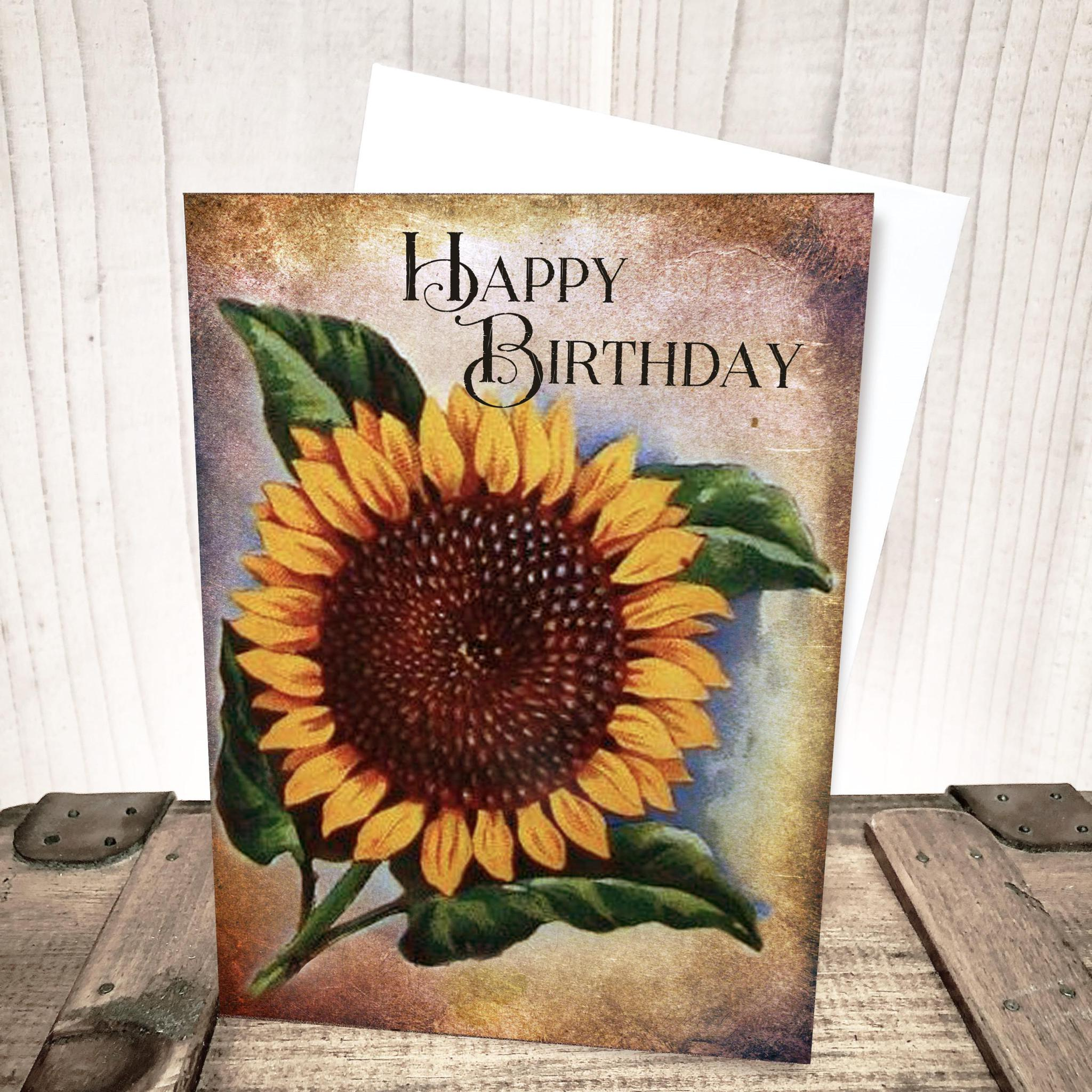 Sunflower Birthday Card by Yesterday's Best