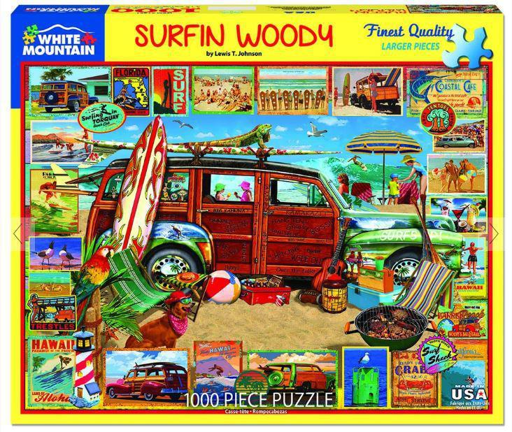 Surfin Woody 1000 Piece Jigsaw Puzzle by White Mountain Puzzle