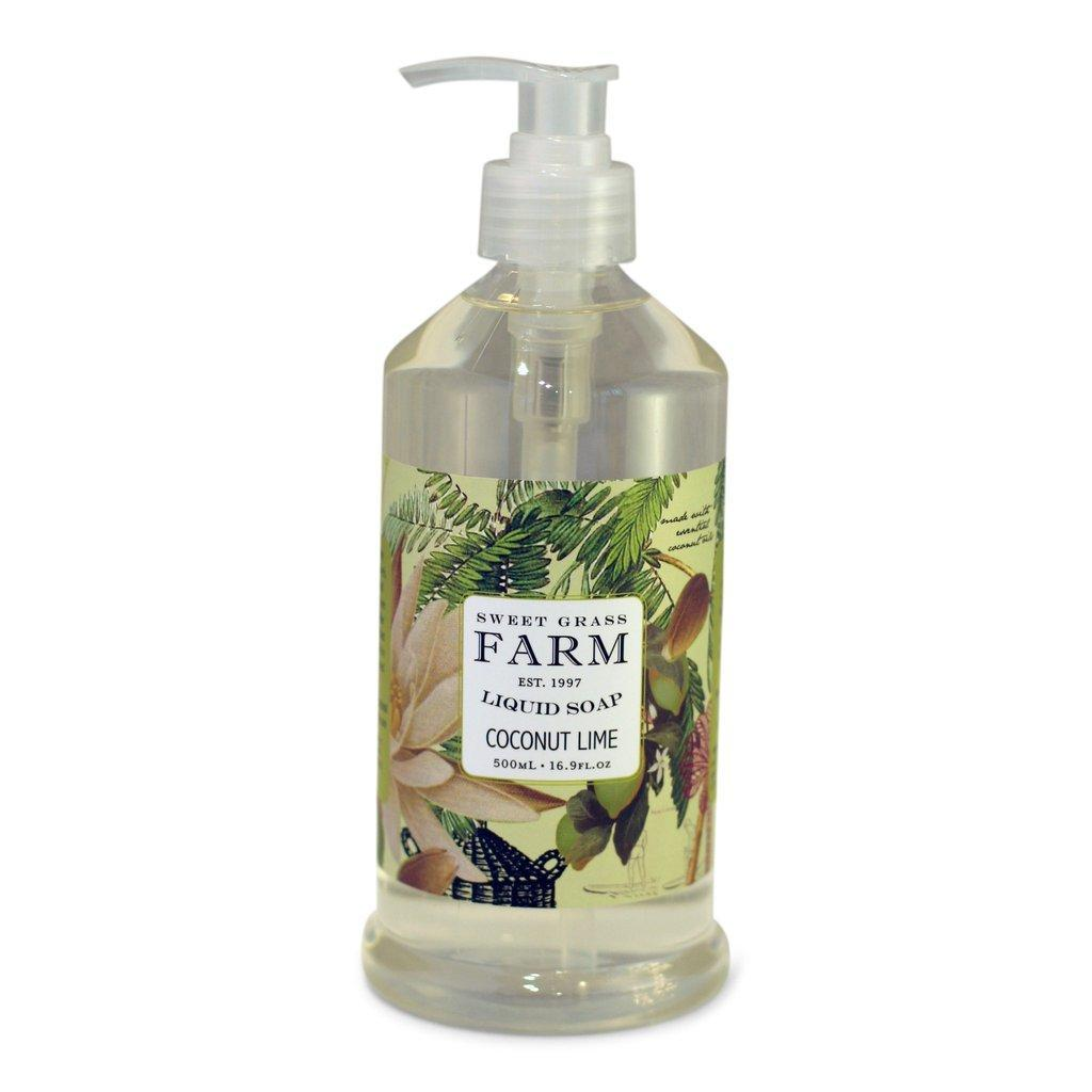 Sweet Grass Farm Liquid Soap With Wildflower Extracts Coconut Lime