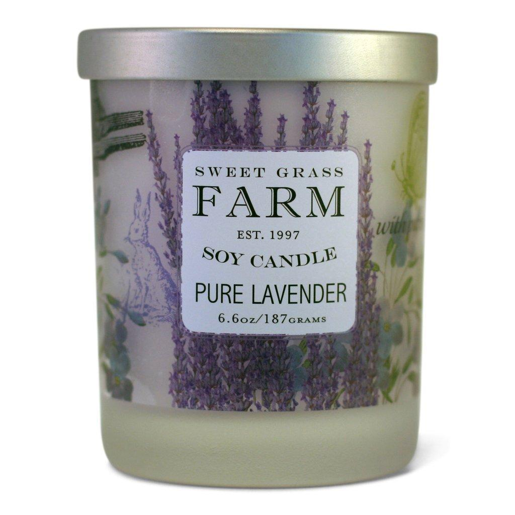 Sweet Grass Farm Soy Wax Candle Pure Lavender