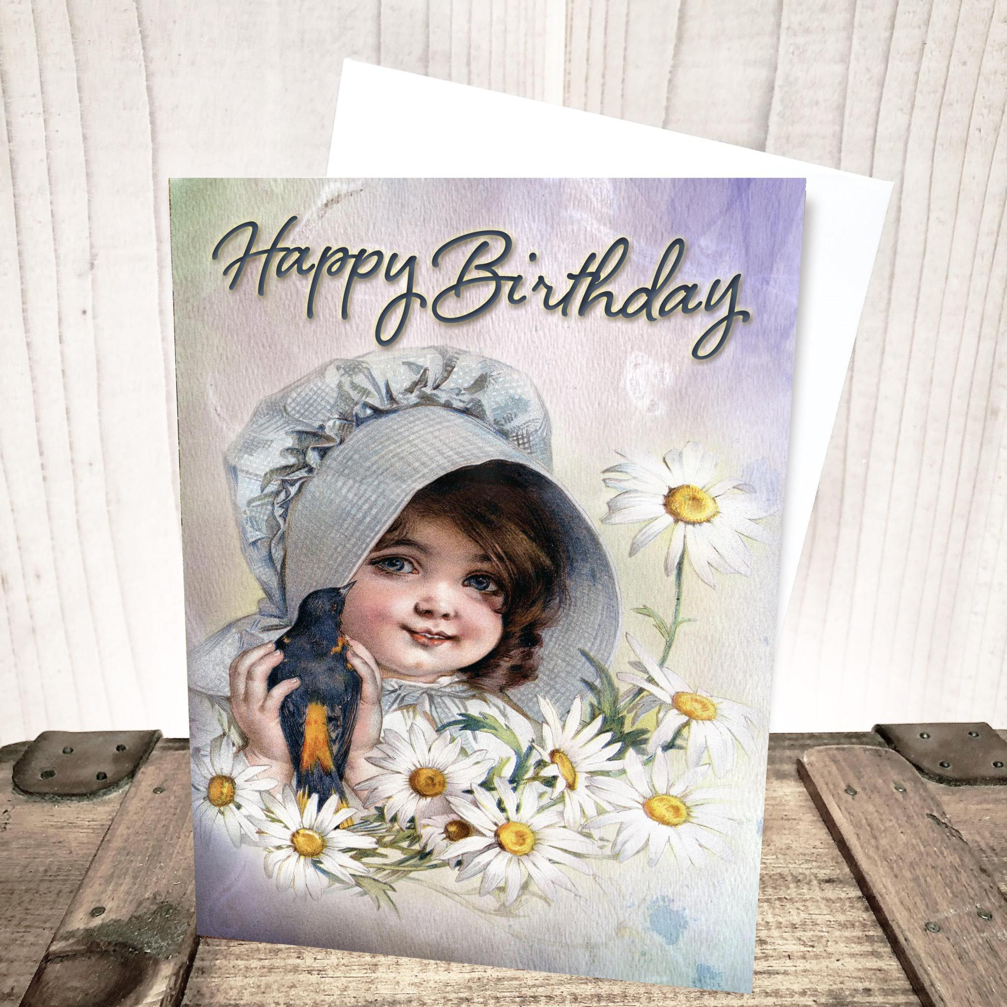 Sweet Pioneer Girl Birthday Card by Yesterday's Best