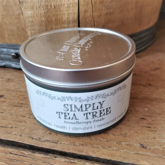 Aromatherapy Tin Soy Candles Tea Tree