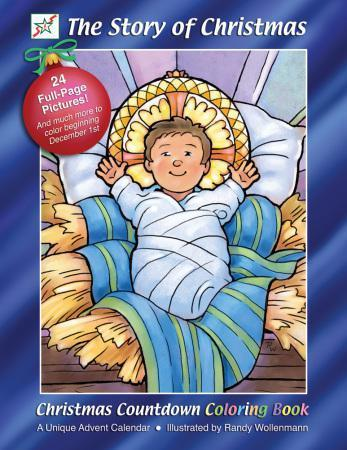 Christmas Countdown Coloring Books The Story of Christmas
