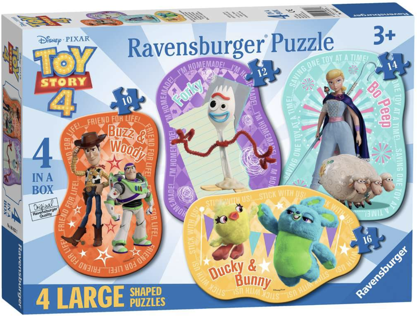 The Toys are Back!  4 Shaped Puzzles by Ravensburger