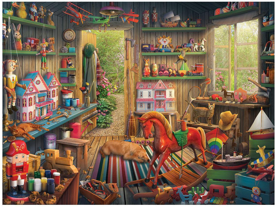 Toy Shed 1000 Piece Jigsaw Puzzle by White Mountain Puzzle