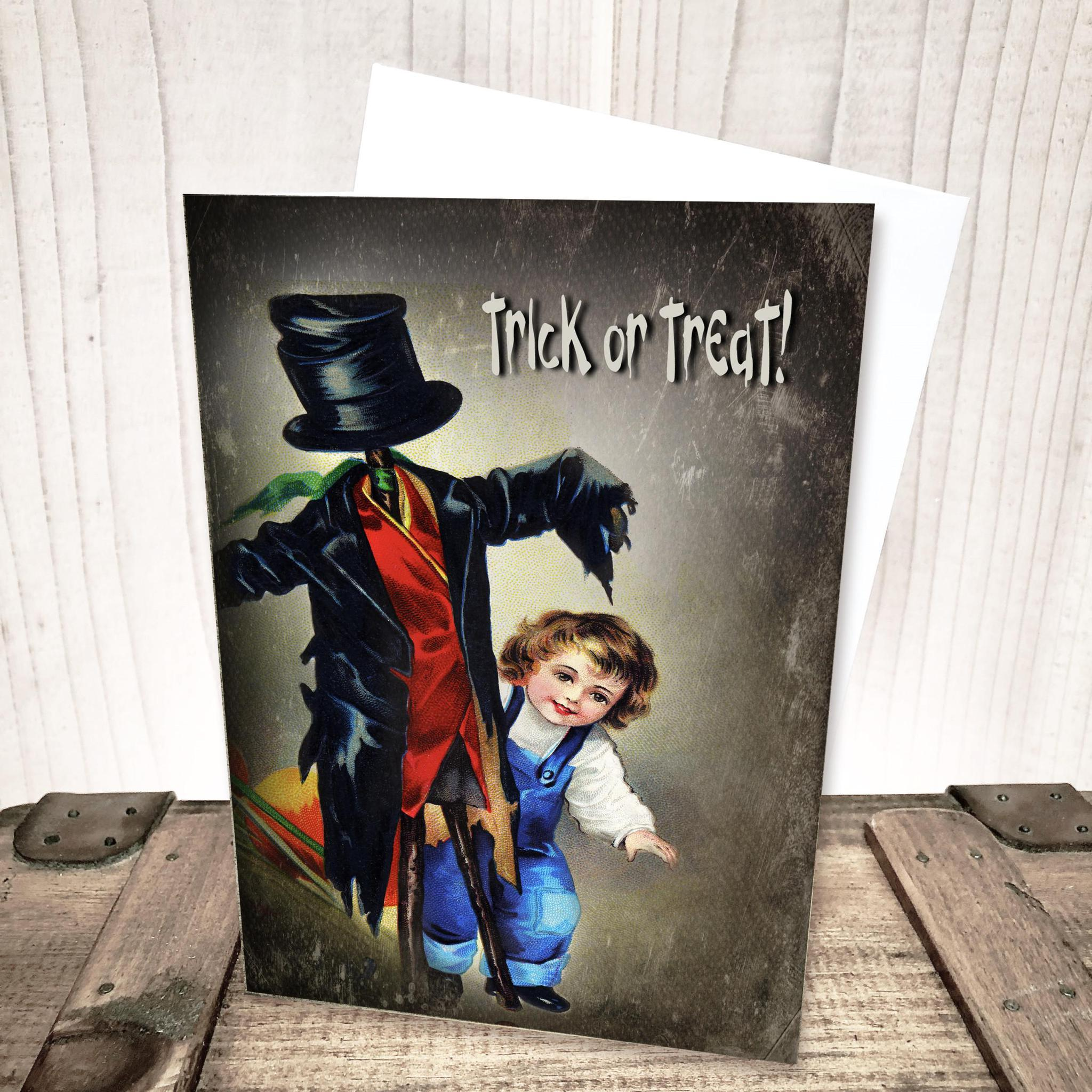 Trick or Treat Scarecrow Halloween Card by Yesterday's Best