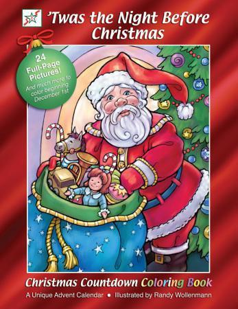 Christmas Countdown Coloring Books 'Twas the Night Before Christmas
