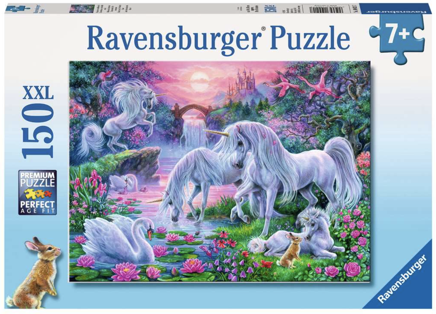 Unicorns in the Sunset Glow 150 Piece Puzzle by Ravensburger