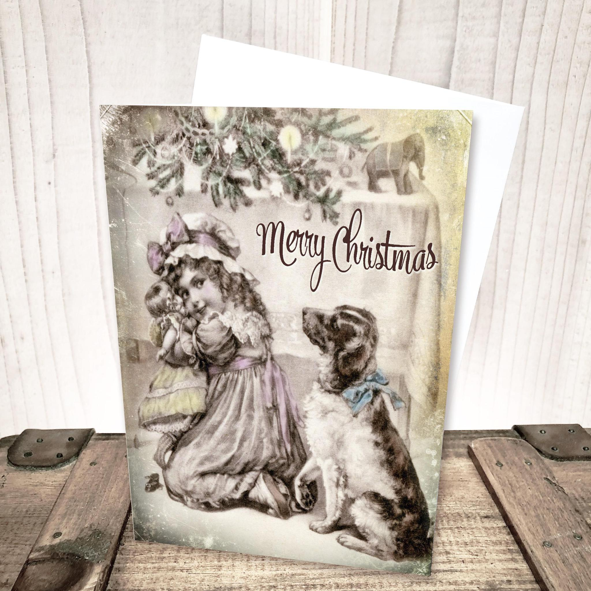 Victorian  Morning Greeting Christmas Card by Yesterday's Best