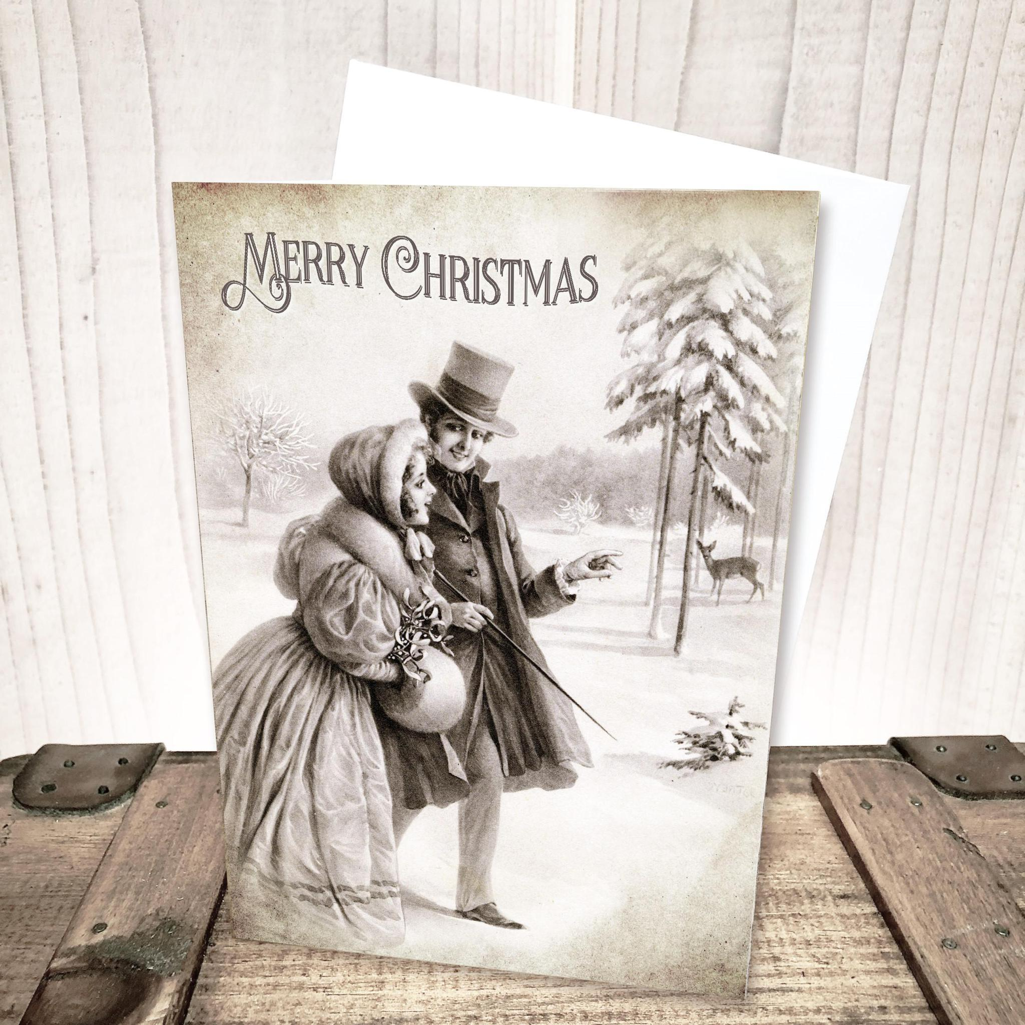 Victorian Winter Christmas Card by Yesterday's Best