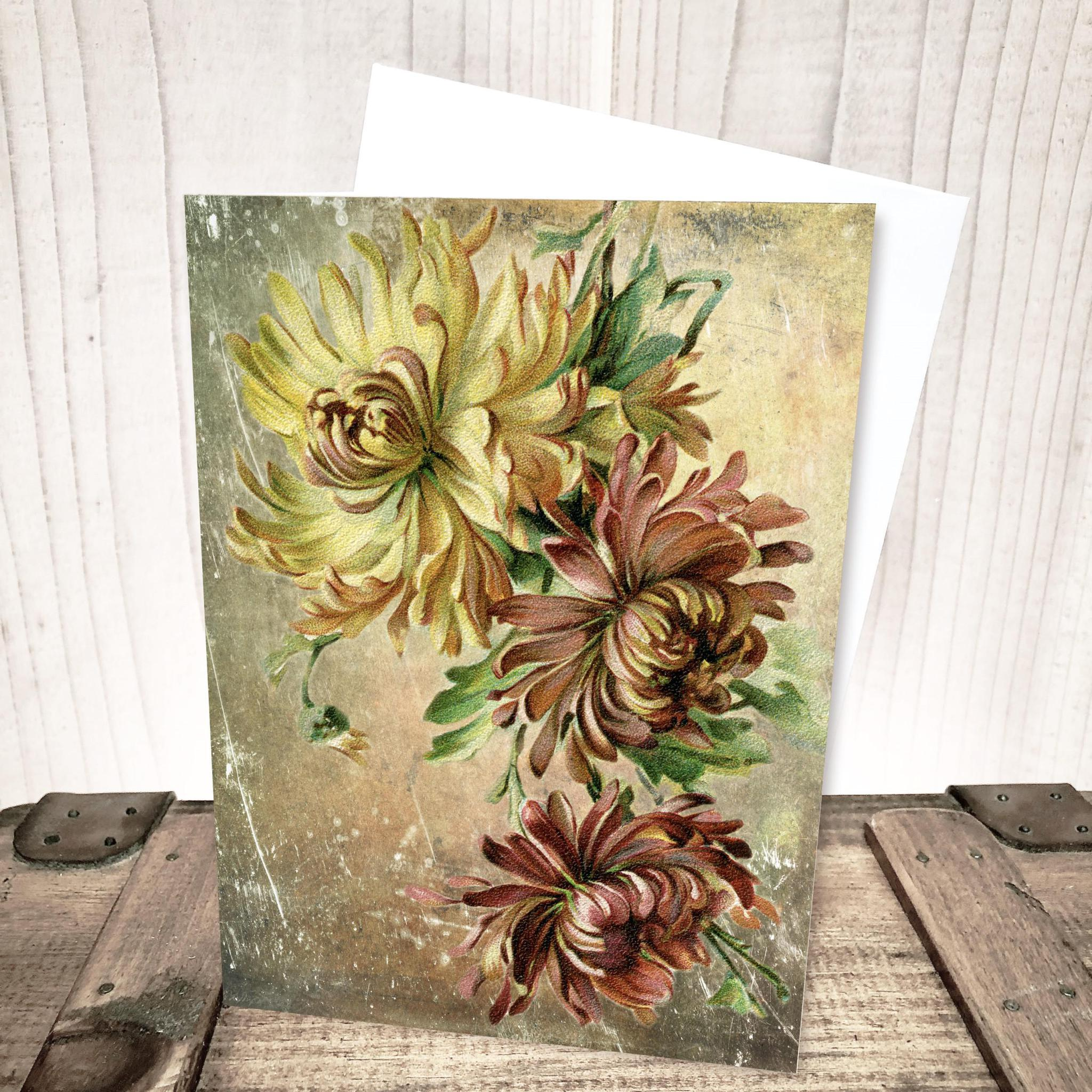 Vintage Chrysanthemum Everyday Card by Yesterday's Best