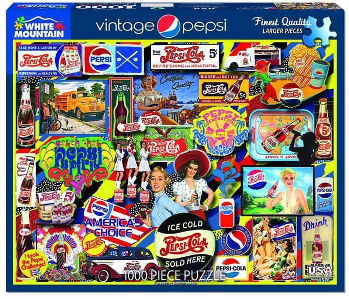Vintage Pepsi1000 Piece Jigsaw Puzzle by White Mountain Puzzles