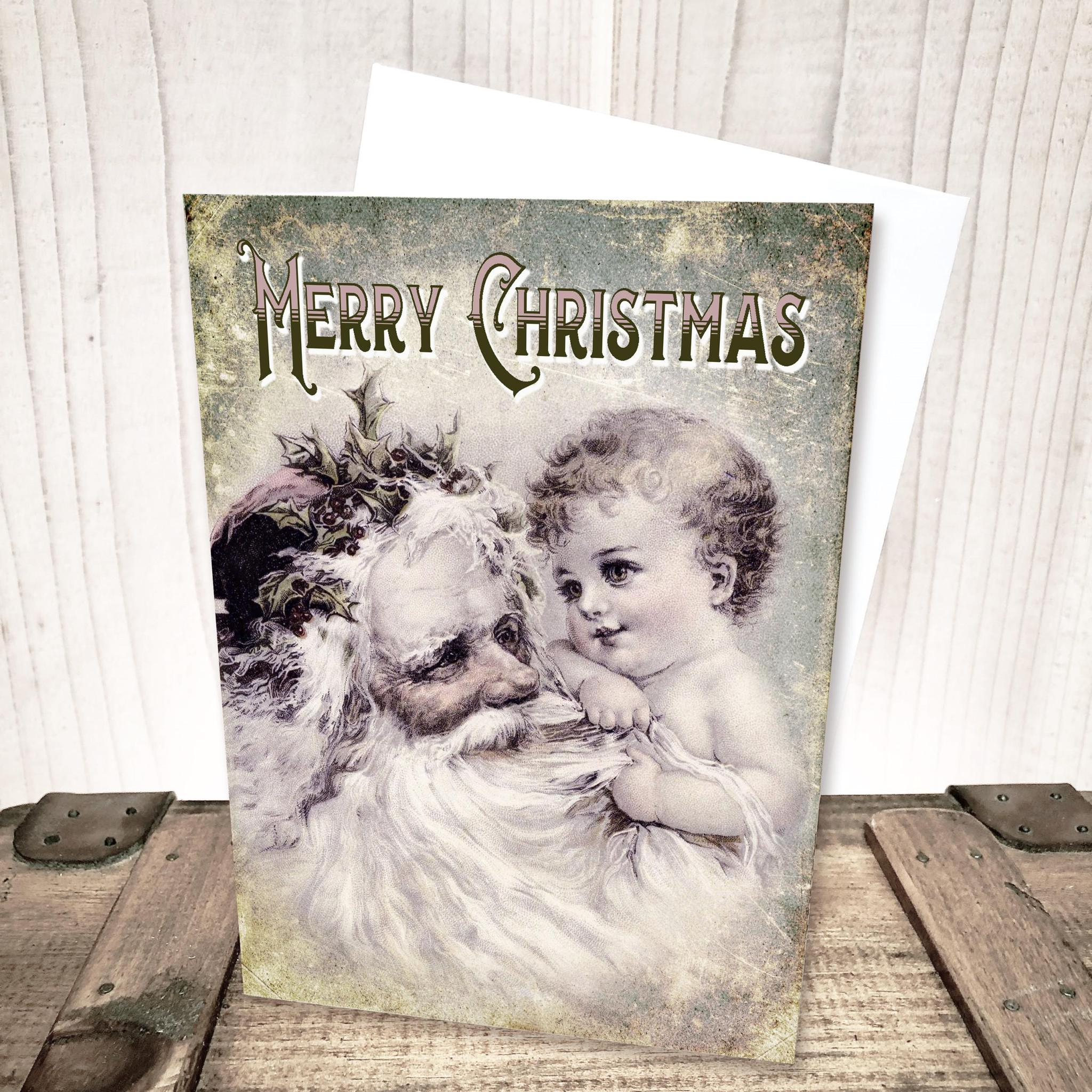 Vintage Santa Christmas Card by Yesterday's Best
