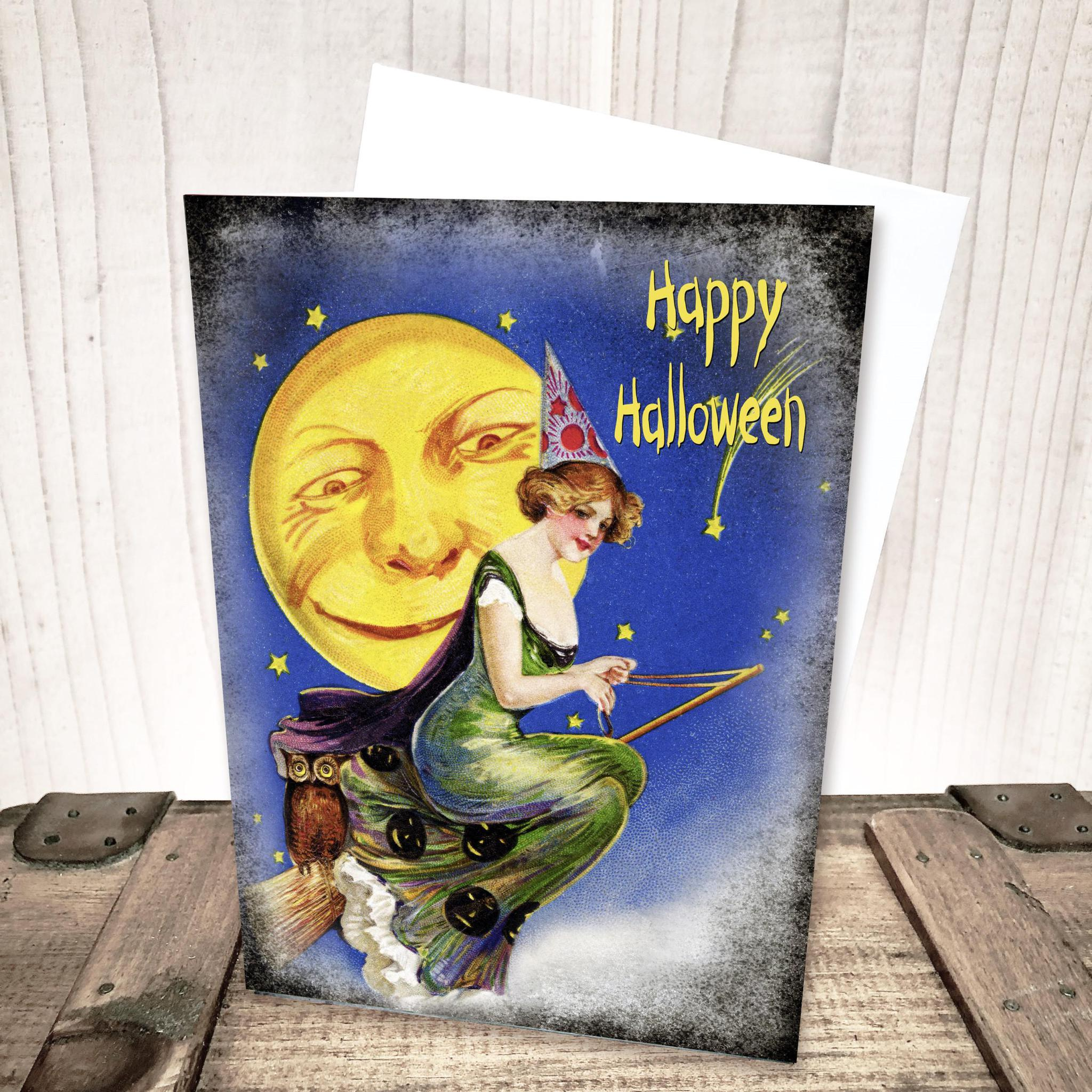 Vintage Witch Halloween Card by Yesterday's Best