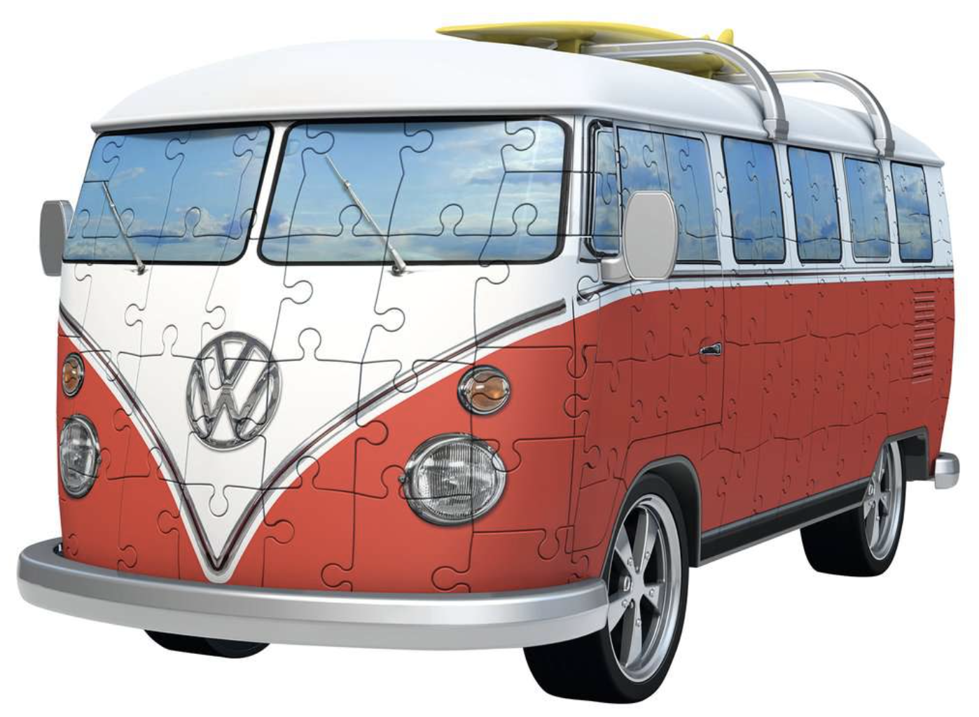 VW Volkswagon Bus T1 Surfer Edition Campervan 162 Piece 3D Puzzle by Ravensburger