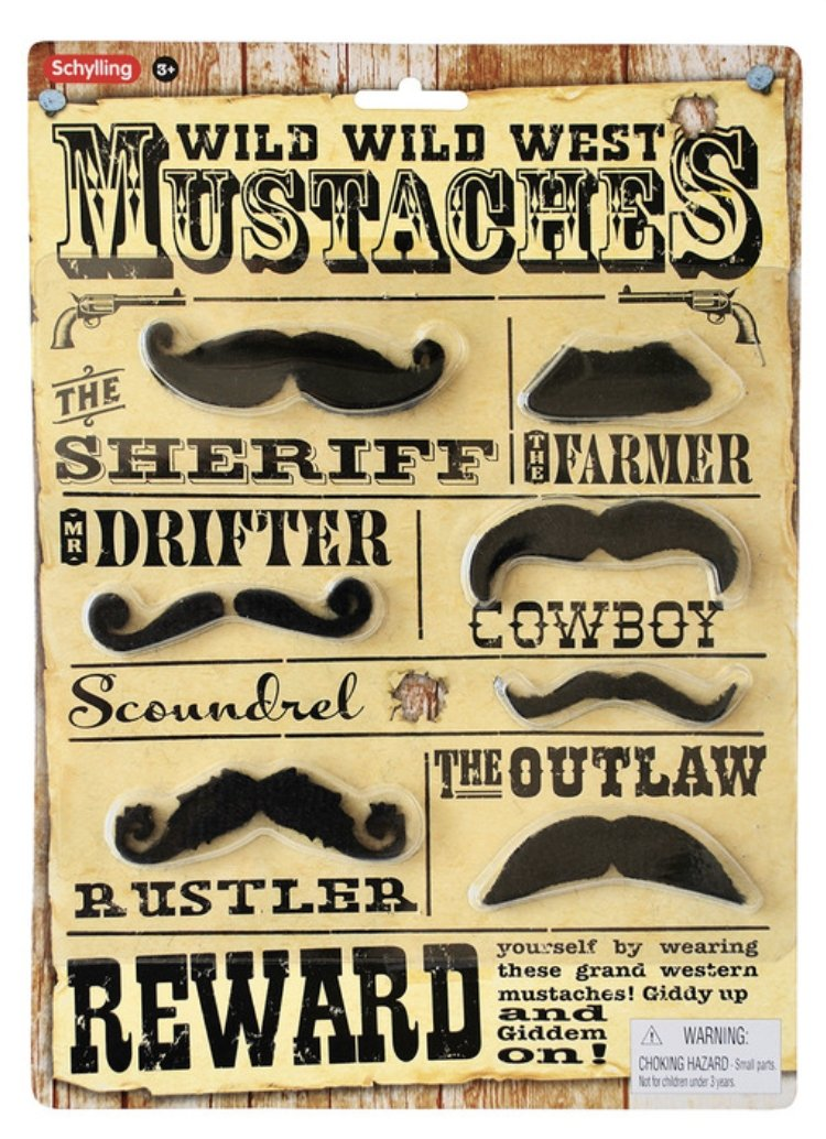 Western Fake Mustaches