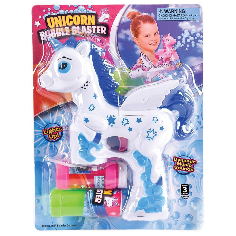 Unicorn Bubble Blaster White / Blue