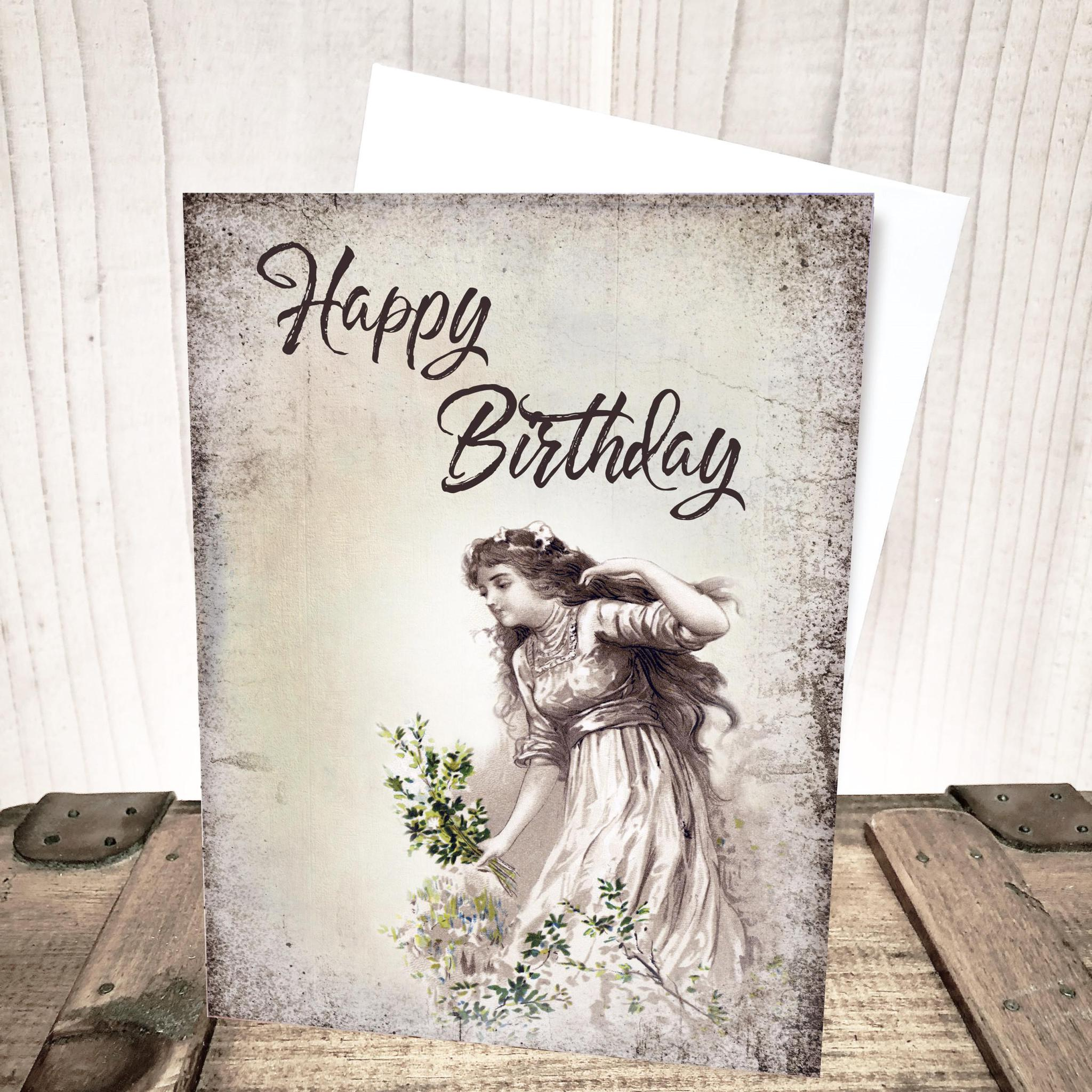 Wild Flower Girl Birthday Card by Yesterday's Best