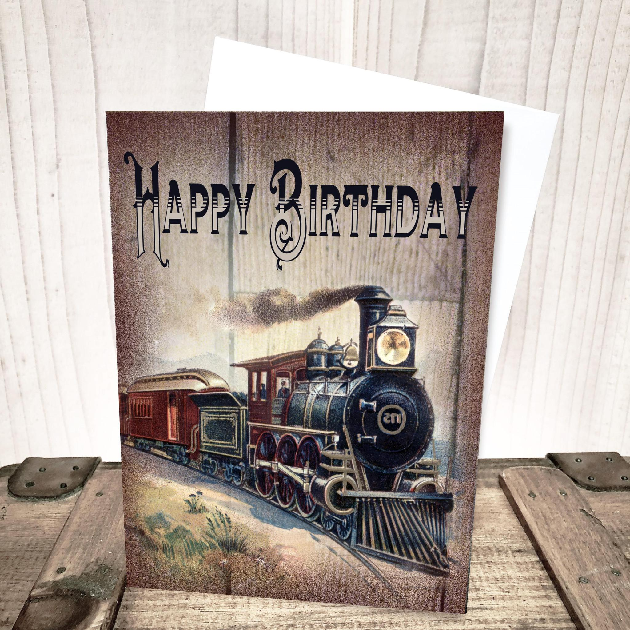 Wild West Train Birthday Card by Yesterday's Best