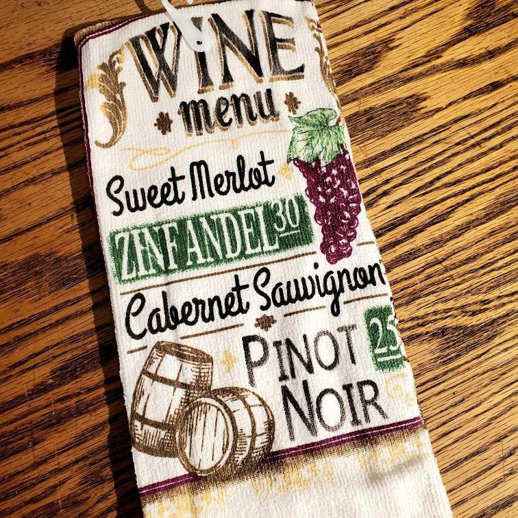 Colorful Classic Kitchen Towels Wine