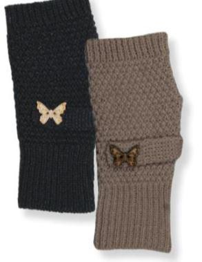 Women's Arm Warmer with Butterfly Accent Button