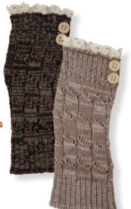 Women's Arm Warmer with Lace and Button Accents