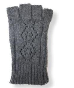 Women's Fingerless Grey Short Cuff Glove