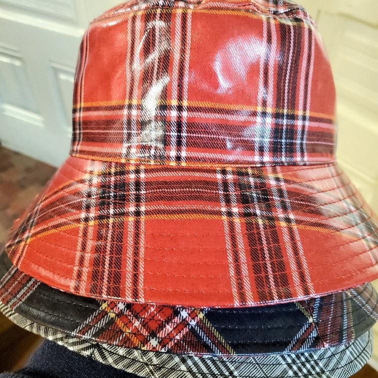 Women's Plaid Rain Hat