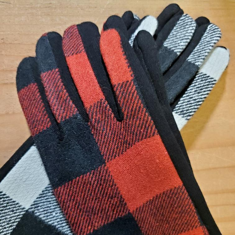 Women's Plaid Texting Gloves