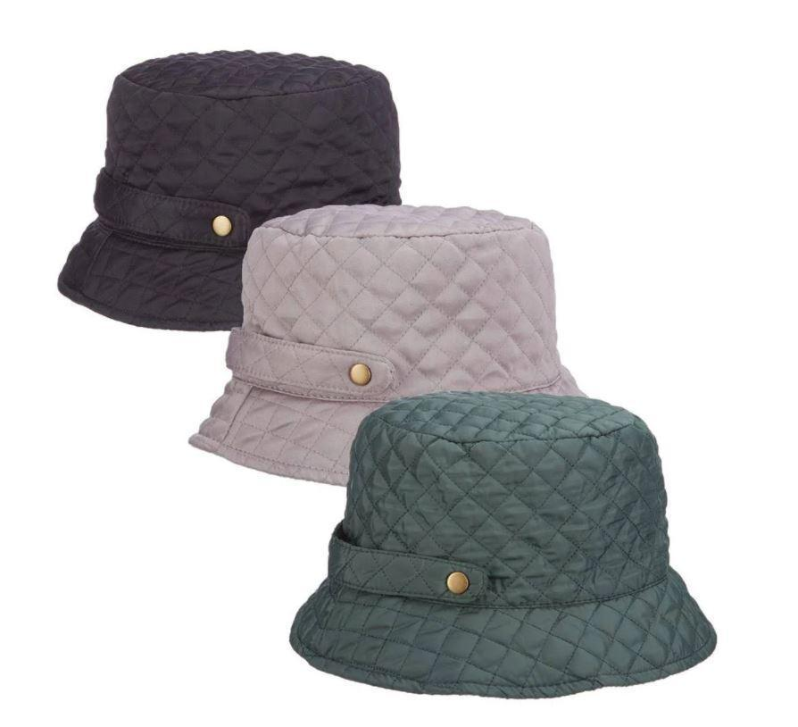 Women's Quilted Packable Rain Hat