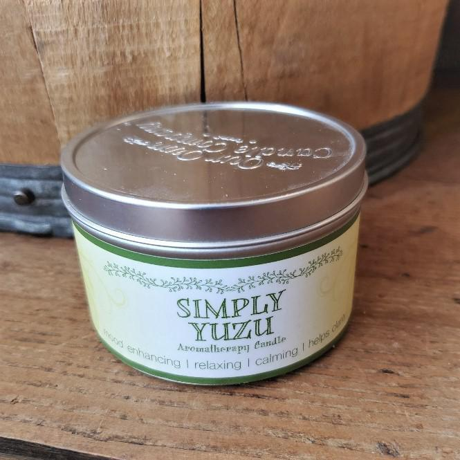 Aromatherapy Tin Soy Candles Yuzu