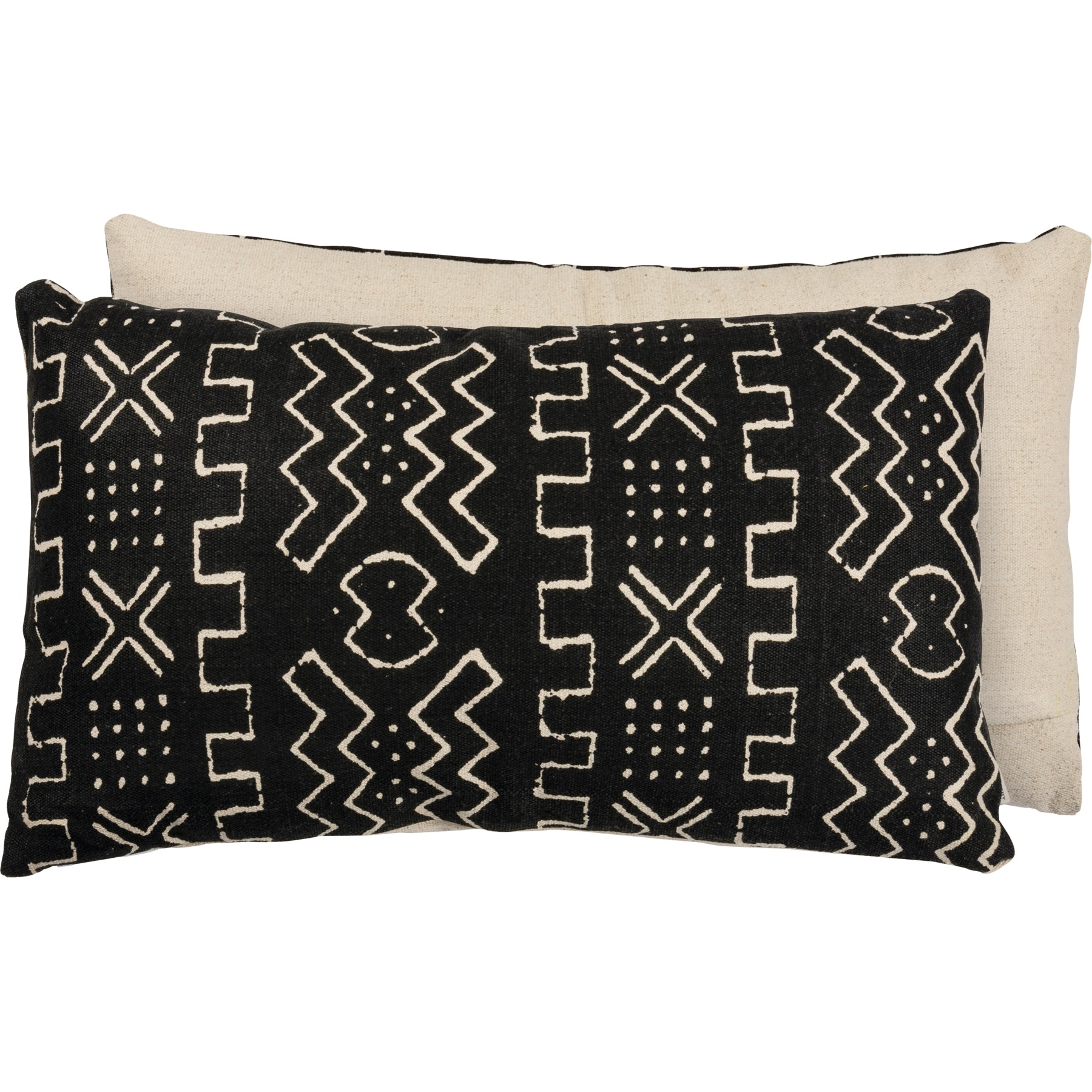 Black Geo Pillow