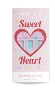 Valentine's Day Sweet Heart Rainbow Bath Bar