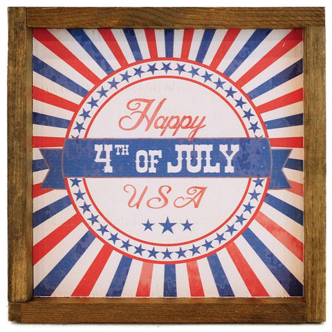 Happy 4th of July Framed Sign