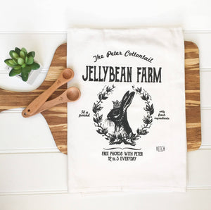 Easter Bunny Jellybean Farm Tea Towel
