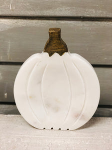 White Marble Pumpkin Spoon Rest
