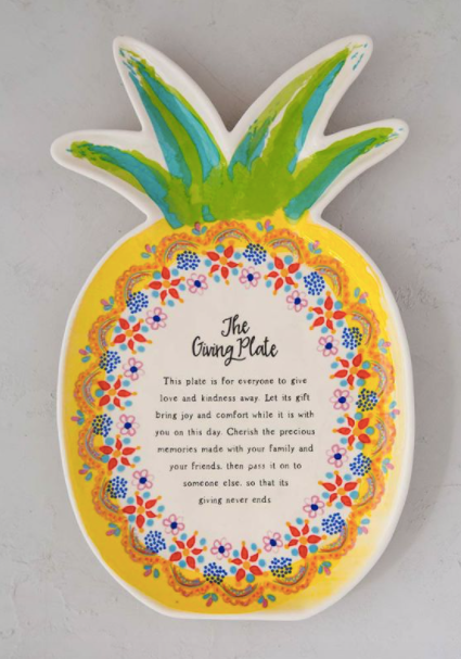 Pineapple Giving Plate