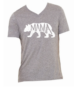 Light Grey Mama Bear T-Shirt