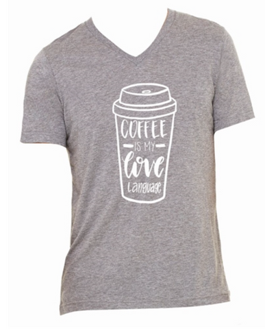 Light Grey Coffee Lovers T-Shirt