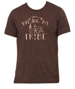 "Brown ""Raising my Tribe"" T-Shirt"
