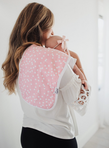 Light Pink and White Polka Dot Burp Cloth