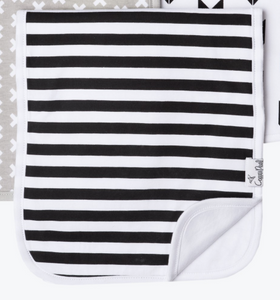 Black and White Stripe Burp Cloth