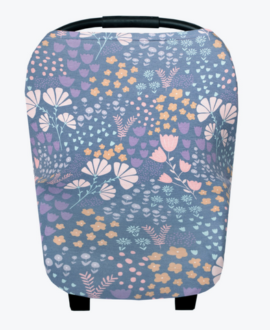 Blue Floral Carseat Cover