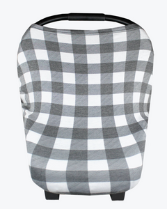 Black & White Stripe Carseat Cover