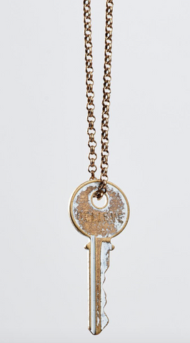 Vintage Inspired Giving Key Necklace