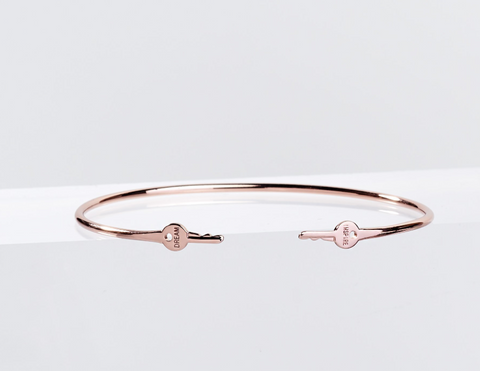 Rose Gold Mini Key Bracelet